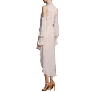T.D.C Dresses - T.D.C Cold Shoulder High Low Mock Neck Dress e6b1fbca6